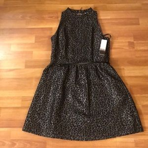 Kensie Grey Leopard Print Dress